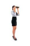 Donna isolata di affari Immagini Stock Libere da Diritti
