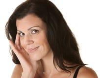Donna ispanica sollevata Fotografia Stock