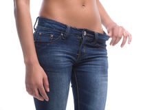 Donna in jeans. Immagine Stock