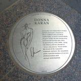 Donna Karan plakieta Zdjęcie Stock