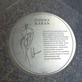 Donna Karan Plaque Stock Photo