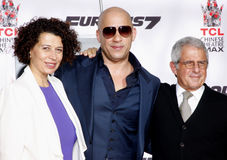 Donna Langley, Vin Diesel Meyer i Ron, zdjęcie royalty free