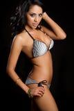 Donna latina del bikini fotografie stock libere da diritti
