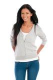 Donna latina sorridente Fotografia Stock