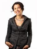 Donna latina sorridente di affari Immagini Stock
