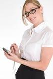 Donna lavoratrice immagine stock