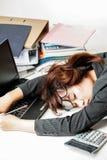 Donna lavoratrice asiatica Fotografia Stock