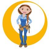 Donna lavoratrice manuale fotografia stock libera da diritti