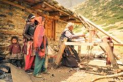 Donna lavoratrice nel Nepal Immagine Stock