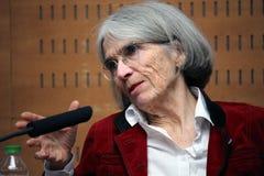 Donna Leon au sujet de l'avenir des romans policiers Images libres de droits