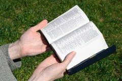 Donna-Lettura-Bibbia Immagini Stock