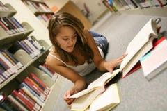Donna in libreria Immagine Stock Libera da Diritti