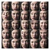 Donna lunatica Immagine Stock Libera da Diritti
