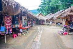 Donna lunga del collo in Tailandia Fotografie Stock Libere da Diritti