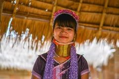 Donna lunga del collo in Tailandia Immagini Stock Libere da Diritti