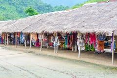 Donna lunga del collo in Tailandia Fotografia Stock Libera da Diritti