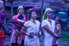 Donna lunga del collo in Tailandia Fotografia Stock
