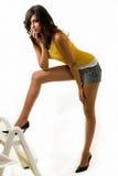 Donna lunga del piedino Fotografie Stock