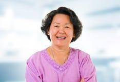 Donna maggiore asiatica Fotografia Stock