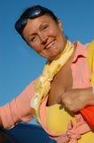 Donna maggiore attraente Fotografie Stock
