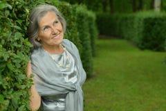 Donna maggiore sorridente Immagine Stock Libera da Diritti