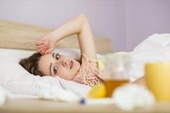 Donna malata Fotografia Stock