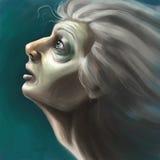 Donna malata royalty illustrazione gratis