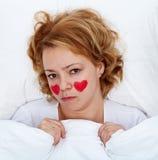 Donna malata d'amore immagini stock