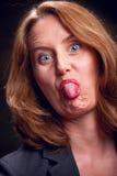 Donna maleducata Fotografia Stock