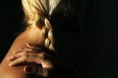 Donna, mano & capelli astratti Fotografie Stock