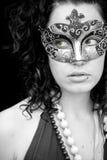 Donna mascherata Immagine Stock