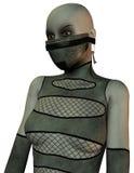 Donna mascherata nello stile di schiavitù Fotografie Stock