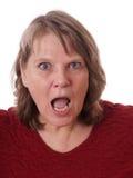 Donna matura con la bocca aperta Immagini Stock