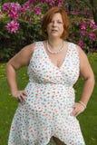 Donna matura di peso eccessivo Immagini Stock