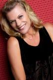 Donna Medio Evo sorridente Fotografie Stock