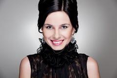 Donna meravigliosa di smiley Fotografia Stock