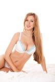 Donna mezzo nuda Immagini Stock