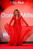 Donna Mills walks the runway at the Go Red For Women Red Dress Collection 2015 Royalty Free Stock Photography