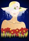 Donna misteriosa in un cappello, Immagine Stock Libera da Diritti