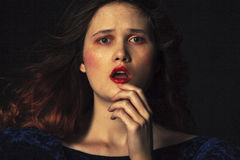 Donna mistica, colpo dello studio Fotografie Stock