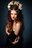 Donna mistica, colpo dello studio Fotografia Stock