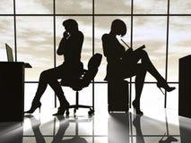 Donna moderna di affari Immagini Stock Libere da Diritti