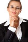 Donna moderna fiera di affari Immagini Stock