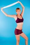 Donna modificata in abiti sportivi Immagini Stock