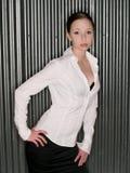 Donna-modo-intenso-sexy-brunette fotografia stock