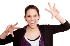 Donna molto arrabbiata fotografia stock libera da diritti