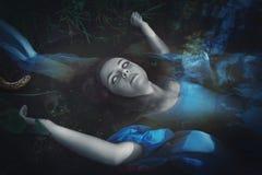 Donna morta annegata terribile del fantasma immagine stock libera da diritti