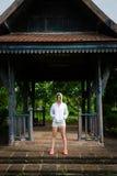 Donna motivata di forma fisica Fotografia Stock Libera da Diritti
