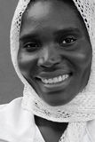Donna musulmana africana fotografie stock