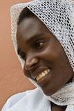 Donna musulmana africana immagine stock